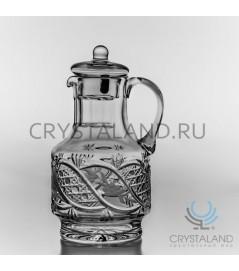 Хрустальный кувшин для напитков  (с крышкой) 1,5 литра