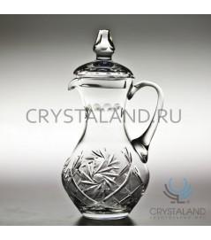 Хрустальный кувшин для напитков (с крышкой) 1 литр