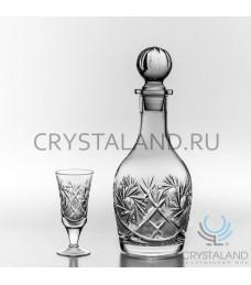 Набор из хрусталя для водки: хрустальный графин и набор из 6 хрустальных рюмок