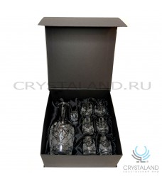 Подарочный набор для водки в коробке графин и шесть стопок