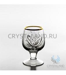 Хрустальные рюмки с отводкой золотом, 6 шт, 50 гр