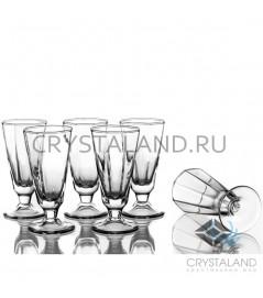 Набор стеклянных граненых рюмок, 6 шт, 35 гр