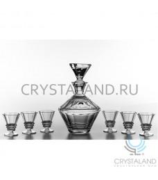 """Хрустальный граненый сервиз """"Собеседник"""", 0.6 литра"""