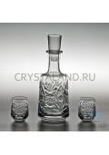 """Набор для спиртных напитков """"Мечта"""": хрустальный штоф и набор из 6 хрустальных стопок, 0.5 литра-2019-05-28"""