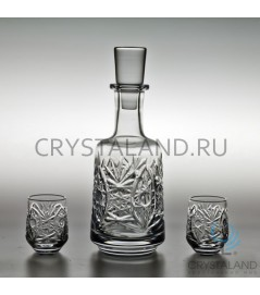 """Набор для спиртных напитков """"Мечта"""": хрустальный штоф и набор из 6 хрустальных стопок, 0.5 литра"""
