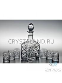 """Набор """"Невский"""" из хрустального графина и 6 стопок, 0.6 литра"""