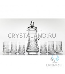 Сервиз для воды: хрустальный кувшин и 6 стаканов, 1.5 литра