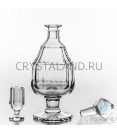 """Сервиз из бесцветного хрусталя """"Елисеевский"""", 0.3 литра"""