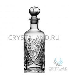Хрустальный штоф для спиртных напитков 0.85 л.