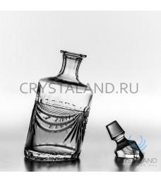 """Хрустальный штоф """"Пьяный"""" для спиртных напитков 1000 гр."""