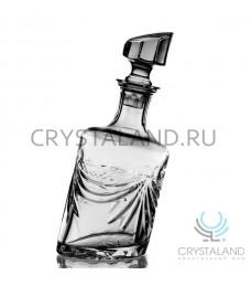 """Хрустальный штоф """"Пьяный"""" для спиртных напитков 0,75 л."""