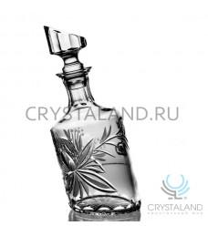 """Хрустальный штоф """"Пьяный"""" для спиртных напитков 600 гр."""