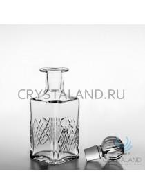 Штоф для виски из бесцветного хрусталя с гладкой поверхностью для гравировки 0.75 л.