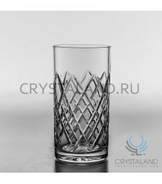 Набор стаканов для воды из бесцветного хрусталя, 6 шт., 330 гр.