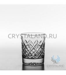 Набор стаканов для виски из бесцветного хрусталя, 6 шт., 190 гр.