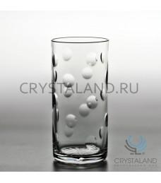"Набор хрустальных стаканов ""Линзы"" 6 шт, 330 гр."