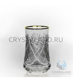 Набор хрустальных стаканов (отводка золотом), 6 шт, 200 гр.