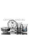 """Набор из стаканов и стеклянных блюдец """"Восточный"""" 6 шт. 125 гр-2020-11-30"""