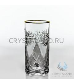 Набор стаканов для коктейля с золотой отводкой 6 шт, 330 гр.