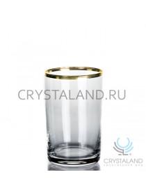 Набор стаканов для подстаканников с отводкой из золота, 6 шт, 250 гр.