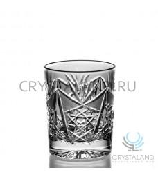 Набор стаканов для виски из бесцветного хрусталя, 6шт, 190 гр.