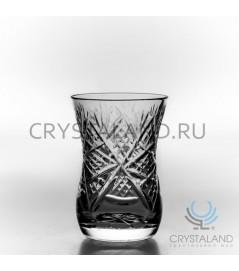 "Набор стаканов из бесцветного хрусталя ""Армуды""  6 шт, 125 гр."
