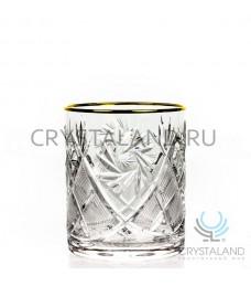 Набор стаканов с отводкой из золота, 6 шт, 330 гр.
