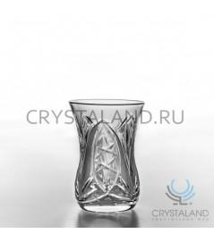 """Восточные хрустальные стаканы """"Армуды"""", 6 шт, 125 гр."""
