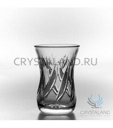 """Восточные хрустальные стаканы """"Армуды""""  6 шт, 125 гр."""