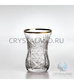 """Восточные стаканы """"Армуды"""" с отводкой золотом 6 шт, 125 гр."""