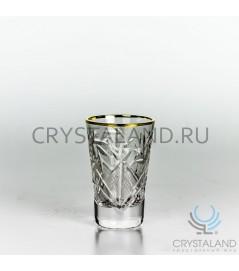 Набор хрустальный стопок с золотой отводкой, 6 шт, 35 гр