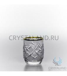 Набор хрустальных стопок с отводкой золото , 6 шт, 35 гр.