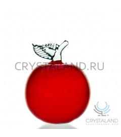 Декоративное изделие из цветного стекла в виде большого яблока 17 см