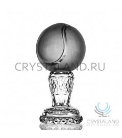 Хрустальный кубок в виде тенисного мяча 18 см