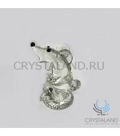 """Хрустальный сувенир """"Крыса"""" 7,5 см"""
