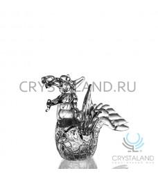"""Хрустальный сувенир """"Дракон"""" 12 см"""
