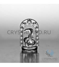 """Хрустальный сувенир """"Год Змеи"""" в арке 9,5 см"""