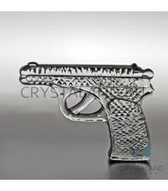"""Хрустальный сувенир """"Пистолет"""" 12 см"""