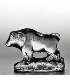 Хрустальный сувенир в виде быка 7 см