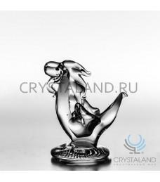 Хрустальный сувенир в виде дракона 12 см