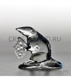 Сувенир из хрусталя в виде крысы 7,5 см