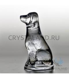 Сувенир из хрусталя в виде собаки 10 см