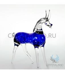 """Символ 2015 года из цветного стекла """"Коза"""" 11 см"""