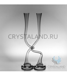 Стеклянная ваза в виде змейки 2 шт., 60 см