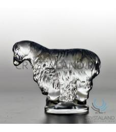 Сувенир из хрусталя в виде овцы 7.5 см
