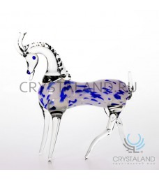 """Сувенир из стекла """"Коза"""" символ 2015 года 11 см"""
