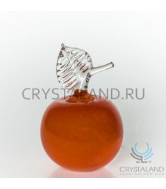 Сувенир из стекла в виде яблока 13 см