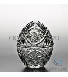 Сувенир-шкатулка хрустальное яйцо 16 см