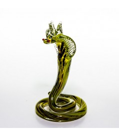 Сувенир в виде кобры из цветного стекла 17 см