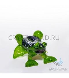 Сувенир в виде лягушки из цветного стекла 6 см